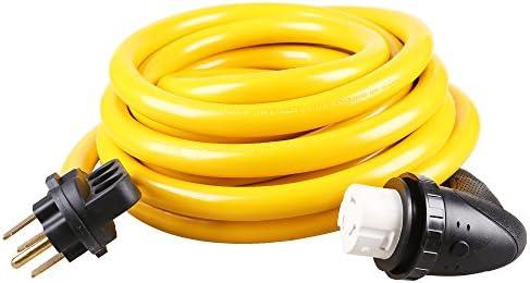 epicord rv extension cord 50 amp standard male nema 14-50p to 50 amp 90