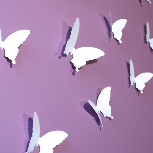 18 teile/los 3d Wirkung Kristall Schmetterlinge Wand Aufkleber ...