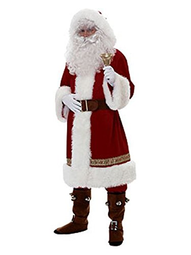 Rubie's Super Deluxe Old-time Santa Suit, Red/White, Standard -
