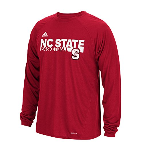 - adidas NCAA North Carolina State Wolfpack Mens Sideline Grind Climalite L/S Teesideline Grind Climalite L/S Tee, Power Red, Medium