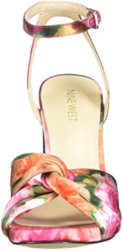 Women's Lavilah Sandal Satin Nine West Pink Multi Satin Heeled z5UWSqgSPw