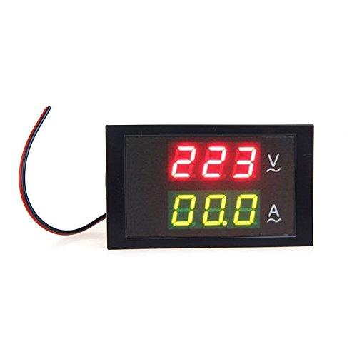Docooler Digital LED Voltage Meter Ammeter Voltmeter with Current Transformer AC80-300V 0-100.0A Dual Display