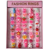 Unique Cute Cartoon Set of 50 Finger Rings for Girls Gifting