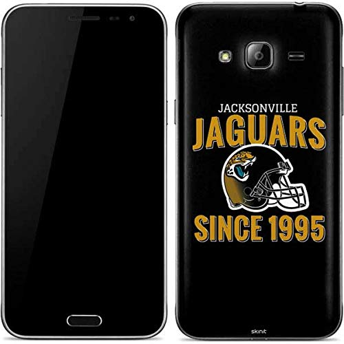 (Skinit Jacksonville Jaguars Helmet Galaxy J3 Skin - Officially Licensed NFL Phone Decal - Ultra Thin, Lightweight Vinyl Decal Protection)