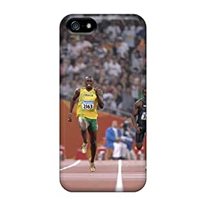 ErleneRobinson Apple Iphone 5/5s Perfect Hard Cell-phone Case Allow Personal Design Attractive Olympics 2012 Usain Bolt Racing Series [cYH27698lSxa]