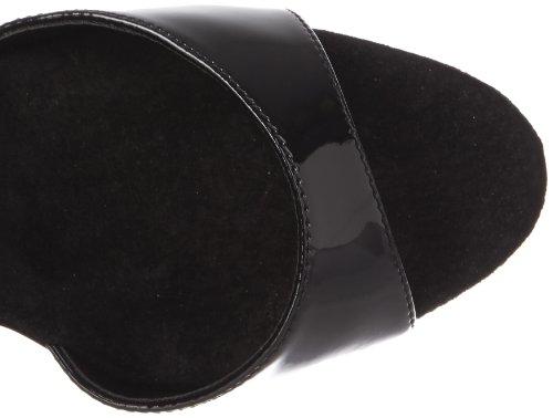 Black Patent B Women's Pleaser 600 Black Sandal Platform Delight 40 Bwf0z