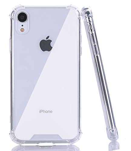 - BAISRKE iPhone XR Case, Slim Shock Absorption Protective Cases Soft TPU Bumper & Hard Plastic Back Cover for iPhone XR 2018 [6.1 inch] - Crystal Clear