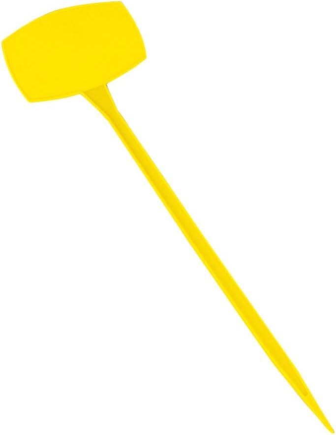 Yardwe 10 Piezas Etiquetas de Jardín de Plástico Etiquetas de Plantas Plegables Impermeables Marcadores de Jardinería para Huerto Jardín Maceta (Amarillo L)
