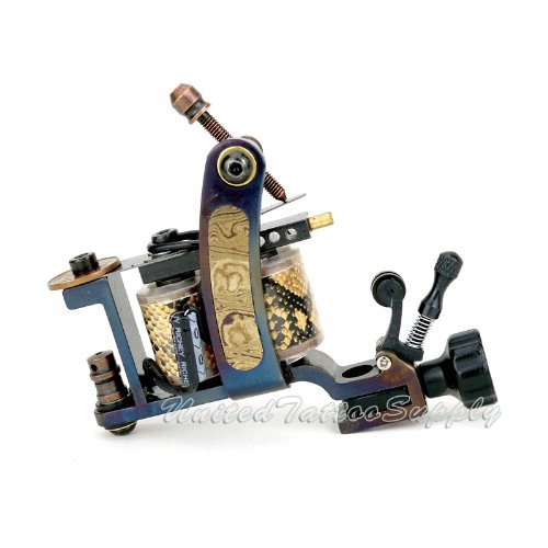 Hand Made Totem DAMASCUS TATTOO Machine with Needle Tensioner – Liner