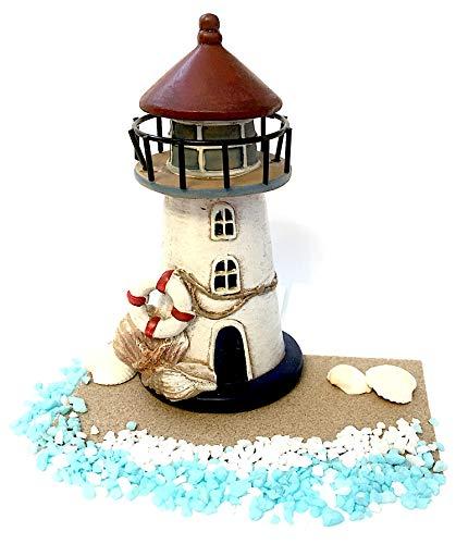 PaBu GuLi Miniature Garden Lighthouse & Accessories Kit for Terrarium, Gnome, Troll or Fairy Garden ()