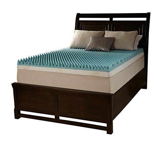 Simmons Beautyrest Comforpedic Loft from Beautyrest 4-inch Sculpted Gel Memory Foam Mattress Topper Blue California King