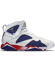 Air Jordan 7 Retro Olympic Tinker Alternate Mens Shoes White/Deep Royal Blue/Fire Red/Metallic Gold Coin 304775...