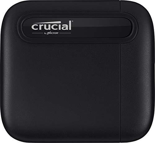 Crucial X6 2TB Portable SSD – Up to 540MB/s – USB 3.2 – USB-C - CT2000X6SSD9
