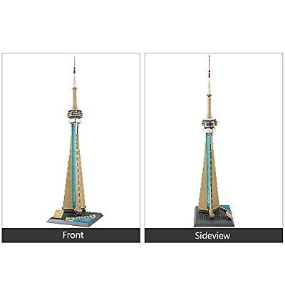 WANGE The CN Tower-Canada Mini Model Building Blocks Bricks STEM Enginering Toy: Toys & Games