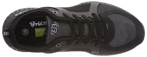 Bruetting Unisex-Erwachsene Highclass Sneaker Schwarz (Schwarz)