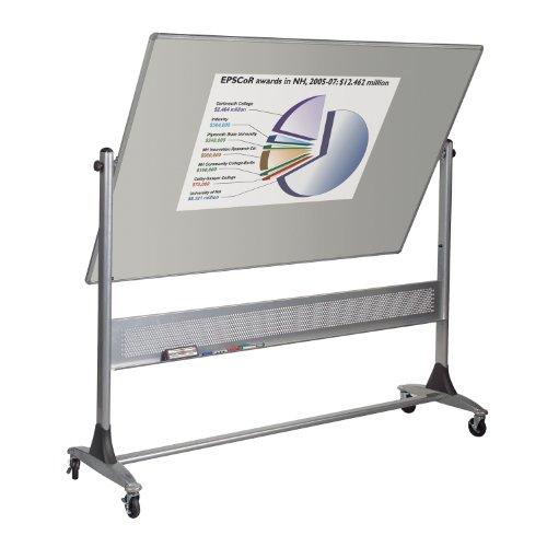 (Mobile Projection Plus Porcelain Markerboard Platinum Reversible Board 4'h X 8'w)