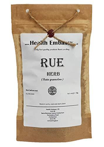 (Rue Herb (Ruta graveolens) - Health Embassy - 100% Natural (50g))