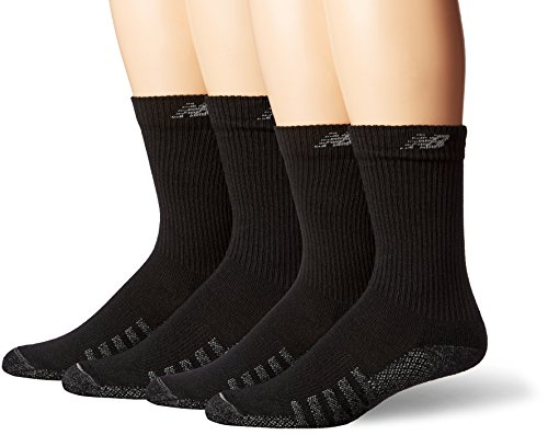 New Balance Unisex 2 pack Technical Elite Crew 2 with Coolmax Socks,Black,Medium