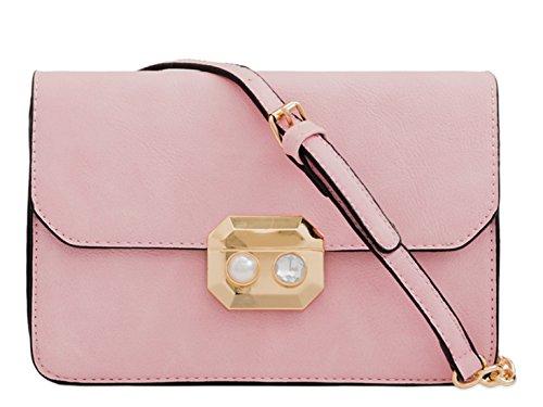 LeahWard Women's Cross Body Handbags Messenger One Shoulder Bags 2142 Blush