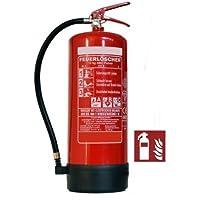 12kg ABC Pulver Feuerlöscher, EN 3, inkl. Andris® ISO Piktogramm und Prüfnachweis mit Jahresmarke