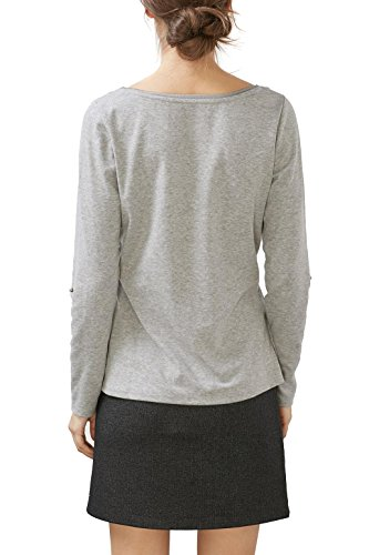 edc by Esprit, Camiseta para Mujer Gris (Medium Grey 5)