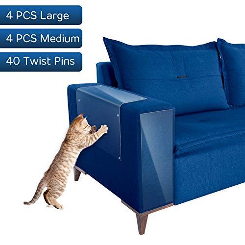 YOUTHINK Cat Scratch Guards - 8 PCS Clear Flexi...