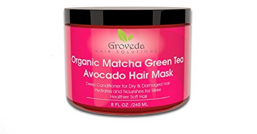 Matcha Green Tea Avocado Hair Mask Deep Conditioner for Dry & Damaged Hair with Argan Oil