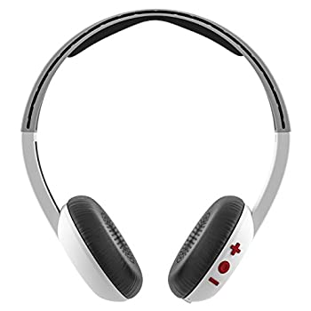 Skullcandy Uproar Bluetooth Wireless On-ear Headphones With Built-in Microphone & Remote, 10-hour Rechargeable Battery, Soft Synthetic Leather Ear Pillows For Comfort, Whitegrayred 2