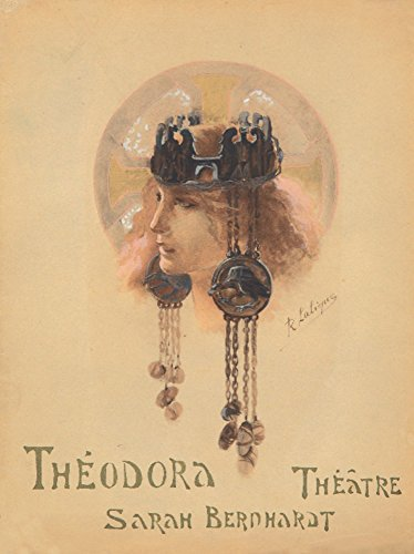 Theodora Vintage Poster (artist: Lalique) France c. 1896 (16x24 Fine Art Giclee Gallery Print, Home Wall Decor Artwork ()