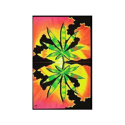 Maui Waui Pot Leaf Marijuana Blacklight Reactive Poster Blacklight Poster 23 x 35in