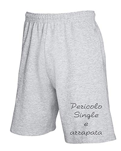 T Single Tdm00214 Pericolo Arrapata Tuta Grigio shirtshock E Pantaloncini rwxqRnr1