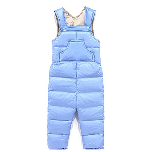 Baby Boy Girl One Piece Sleeveless Snowsuit Toddler Warm Romper Jumpsuit Blue 90