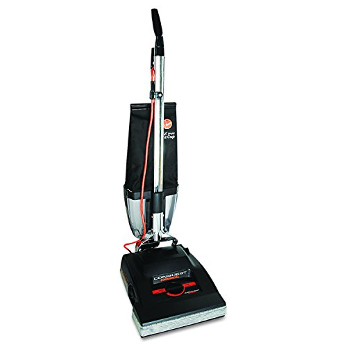 Hoover Commercial C1800-010 Conquest Bagless Upright Vacuum with 14″ Cleaning Path