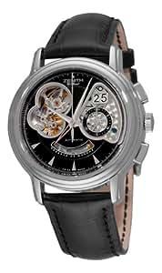 Zenith Men's 03.0240.4039/21.c610 Chronomaster T Open Black Chronograph Dial Watch