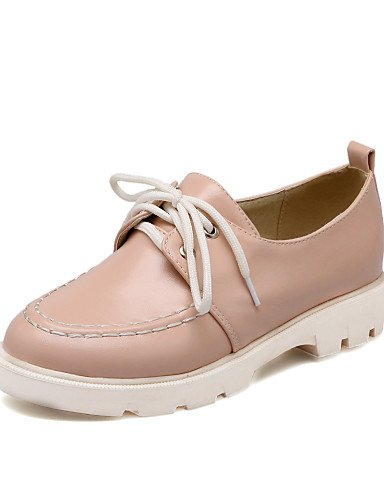 5 Uk6 us8 Blue Punta Bajo Eu38 Mujer Redonda Zapatos Azul Cn39 Semicuero Cn38 Njx Oxfords De Rosa Eu39 Uk5 us7 Pink Tacón Beige Casual Light 5 wqSn6a