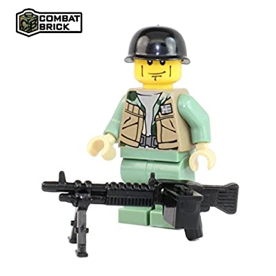 CombatBrick Vietnam War US Army Machine Gunner - Custom Army Builder Minifigure: Toys & Games