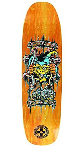 Black Label John Lucero X2 Skateboard Deck Orange Stain w/Yellow Face by Black Label