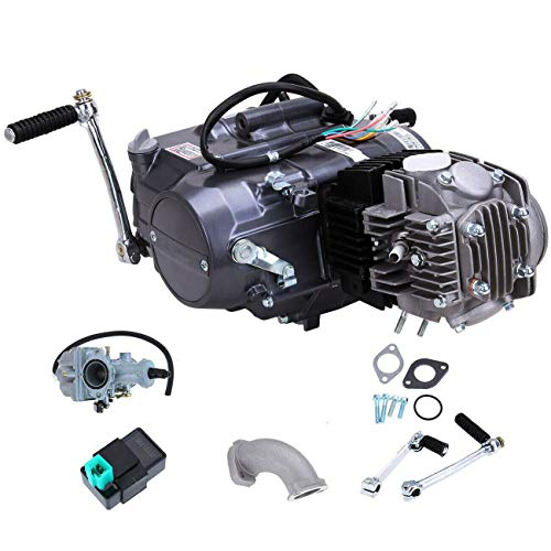 125CC Engine Motor,Single cylinder 4-stroke with Air-Cooled Motor Engine Pit Dirt Bike For Honda CRF50 CRF70 XR50 XR70 (Dirt Bike Engine 125cc)