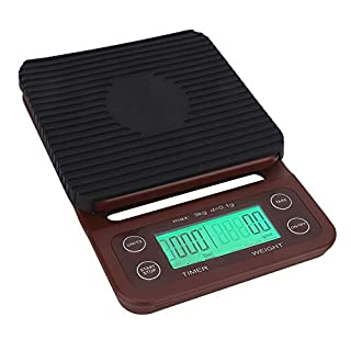 High Precision Coffee Electronic Scale Portable Digital Kitchen Scale with LED Display, Timer
