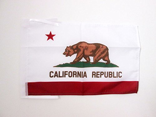 AZ FLAG California Flag 18'' x 12'' Cords - Californian Small Flags 30 x 45cm - Banner 18x12 in