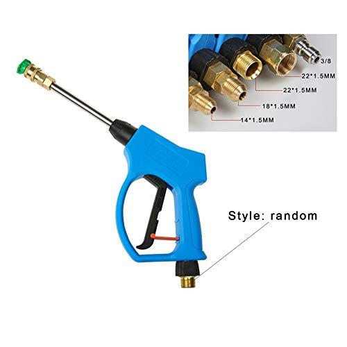 KNOSSOS Pistola ad Alta Pressione per Lavaggio Auto ad Alta Pressione Pistola a Pressione con Nucleo in Ceramica. Interfaccia Filo Esterno 22x1,5mm