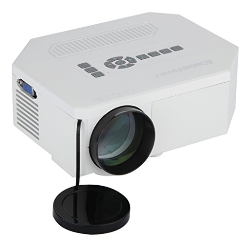 Excelvan multi media 150 lumens portable hd led projection for Micro projector for ipad