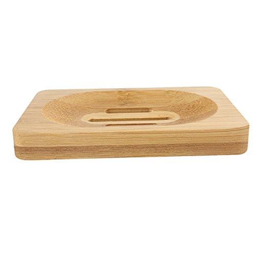 12 8 1.4 cm Vikenner Caja de Bandeja de Bandeja de Jab/ón Durable Jabonera De Bamb/ú de Bamb/ú Natural para la Ducha del ba/ño