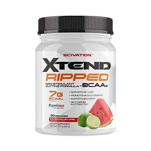 Scivation Xtend Ripped BCAA Powder, Branched Chain Amino Acids, BCAAs, Watermelon Lime, 30 Serving