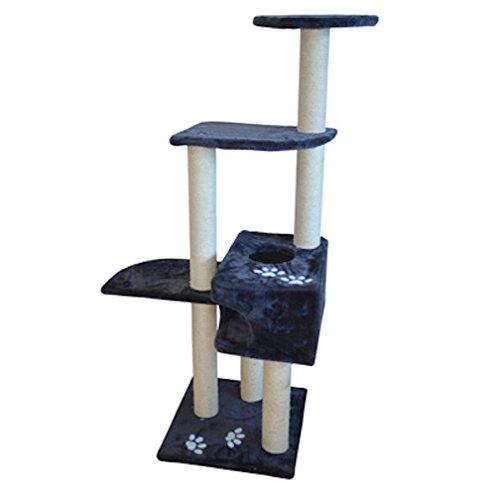 Iconic Pet Mid Condo Cat Tree/Furniture, Dark Grey