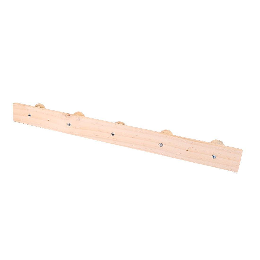 eDealMax madera para el hogar Baño 5 ganchos de pared ropa de la toalla montado en rack colgantes - - Amazon.com