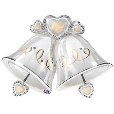 1 X Wedding Bells Shape 35in Balloon