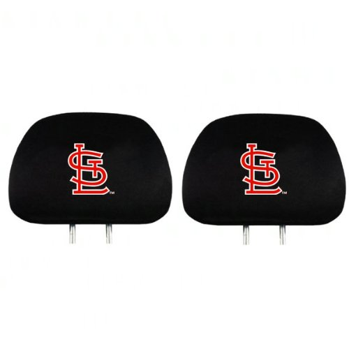 Athletic Head Cardinal - MLB St Louis Cardinals Head Rest Covers, 2-Pack