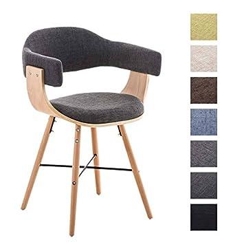 Stühle modern mit armlehne  CLP Besucher-Stuhl BARRIE V2 Stoff, natura, mit Armlehne ...
