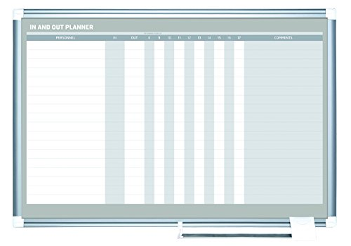 (MasterVision Planning Board Magnetic Dry Erase in & Out Horizontal, 24